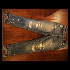 Abercrombie size 0 distressed Girlfriend Jeans